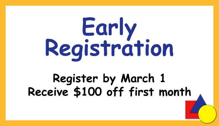 Early Registration at Brookeside Montessori School