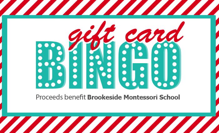 Gift Card Bingo at Brookeside Montessori School