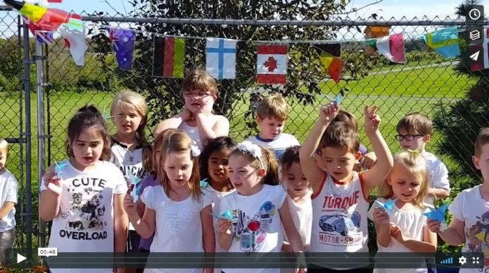 World Peace Day 2017 at Brookeside Montessori School
