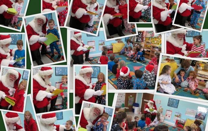 Santa at Brookeside Montessori School 2017