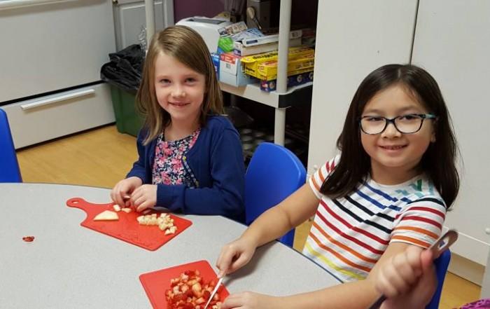 Salsa - Students Prepare Healthy Snacks at Brookeside Montessori School