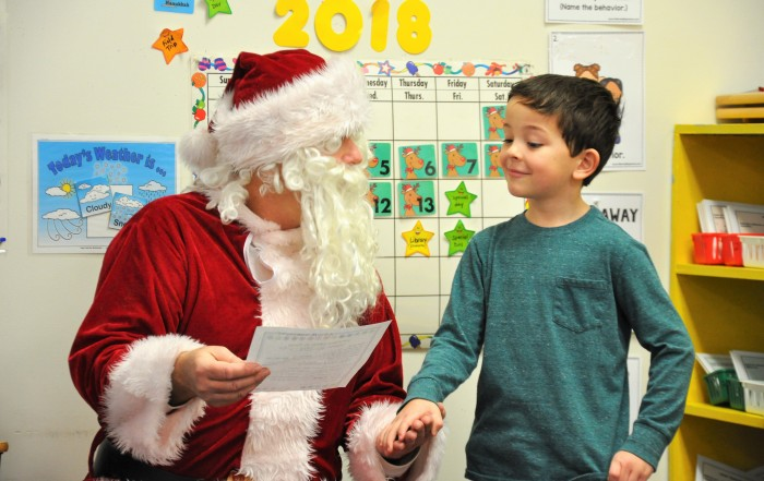 Santa Visit to Brookeside Montessori School 2018 - 4