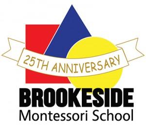 25th Anniversary logo - Brookeside Montessori School