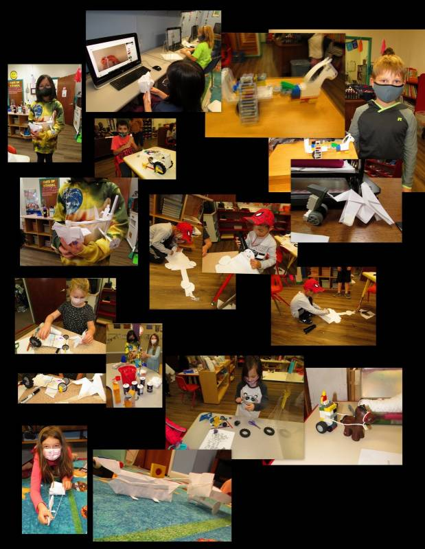 Egyptian Chariot STEM Project at Brookeside Montessori School
