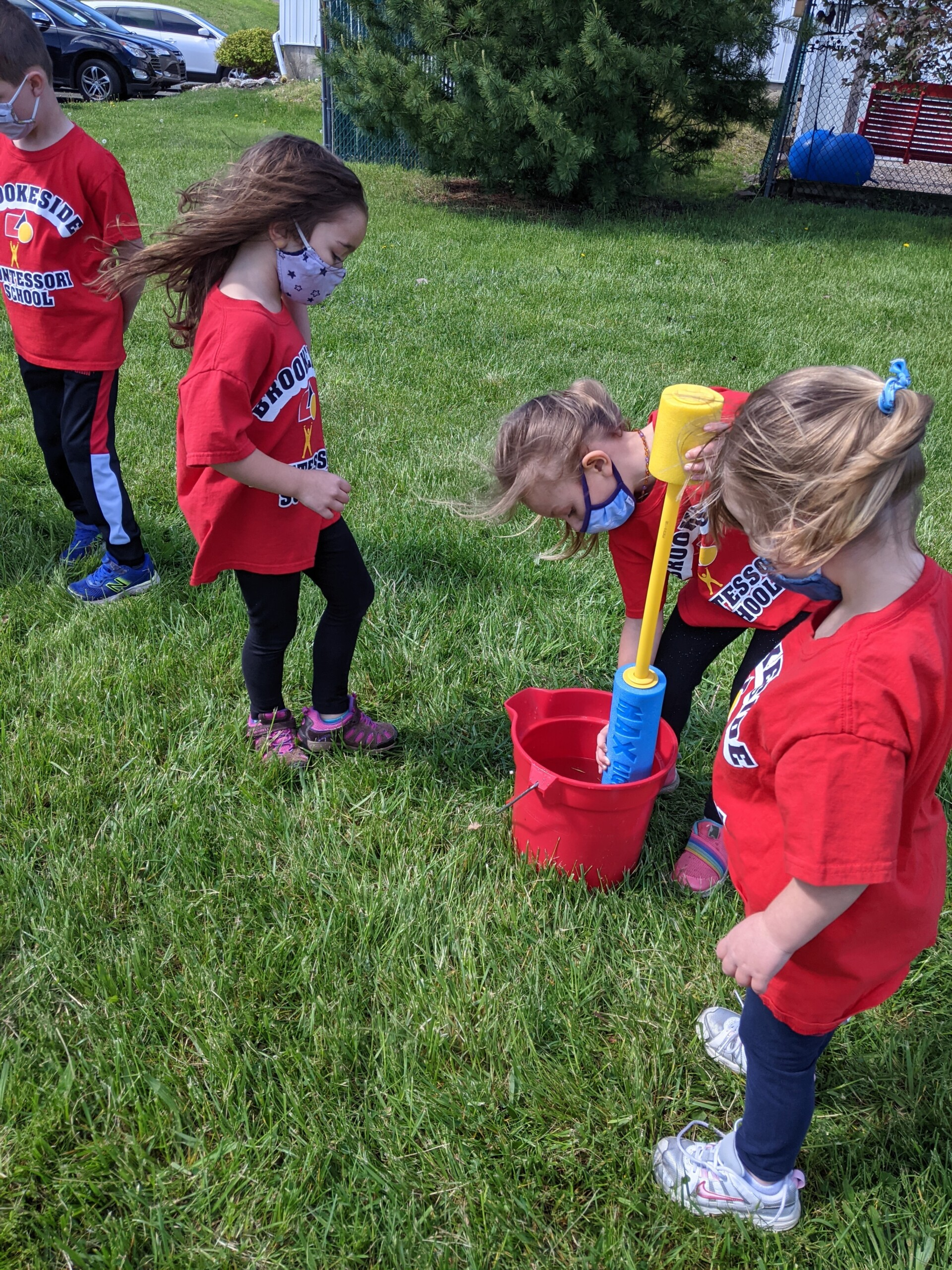 Field Day 2021 at Brookeside Montessori School - Water Play Relay