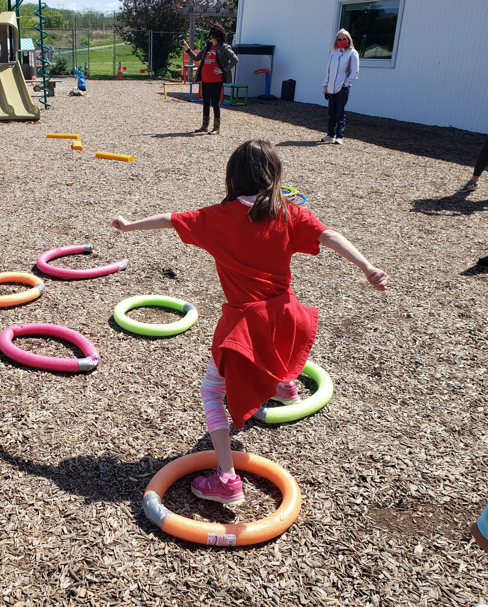 Field Day 2021 at Brookeside Montessori School - Obstacle Course