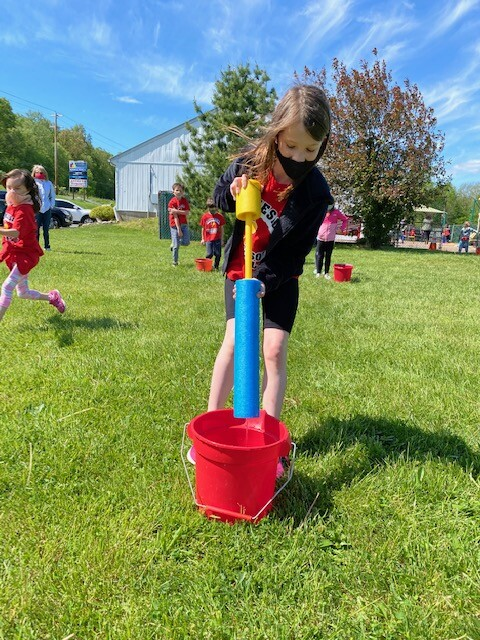 Field Day 2021 at Brookeside Montessori School - Water Relay Game