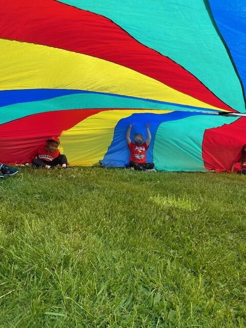 Field Day 2021 at Brookeside Montessori School - Parachute Fun